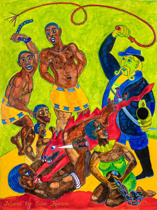 Slavery panel - 1st image - Captured in Africa -